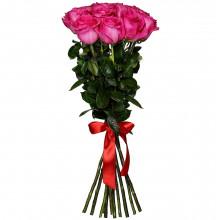 11 розовых роз Премиум