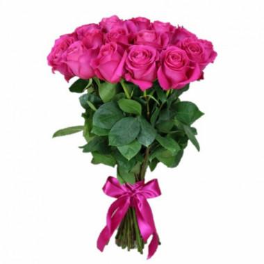 15 розовых роз Премиум