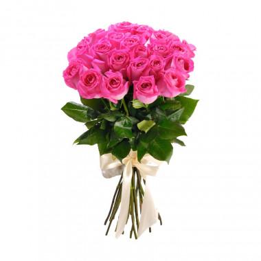 25 розовых роз Премиум