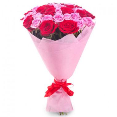 Букет из 39 роз в фетре