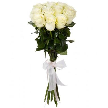11 белых роз Премиум