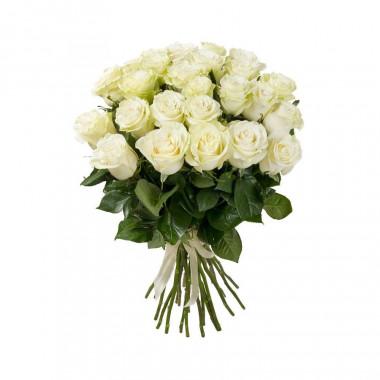 25 белых роз Премиум