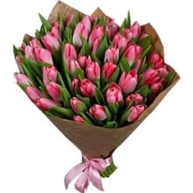 Букет из 41 тюльпана